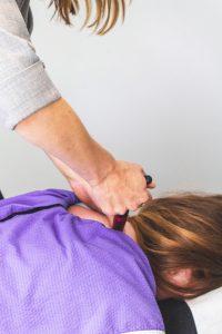 Anna practising chiropractic