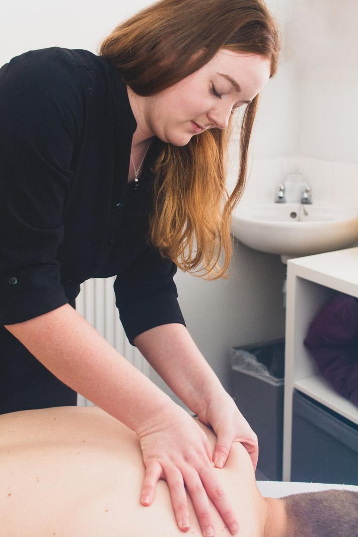 Jess providing sports massage